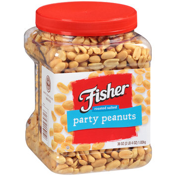 Fisher® Roasted Salted Party Peanuts 36 oz. Plastic Jar