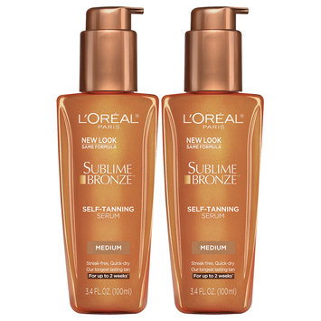 L'Oreal® Paris Sublime Bronze™ Medium Self-Tanning Serum 2-3.4 fl. oz. Pumps