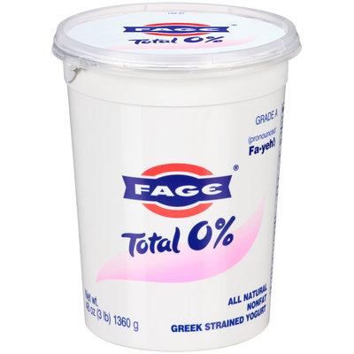 Fage® Total 0% Nonfat Greek Strained Yogurt 48 oz. Tub