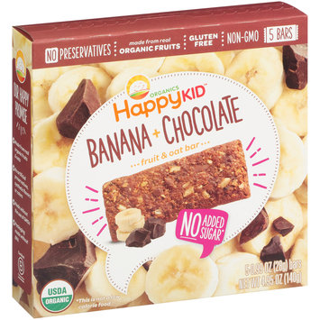 Happy Kid™ Banana + Chocolate Fruit & Oat Bars 5-0.99 oz. Bars