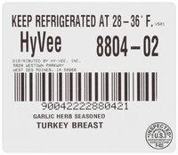 Hyvee® Garlic Herb Seasoned* Turkey Breast with Broth