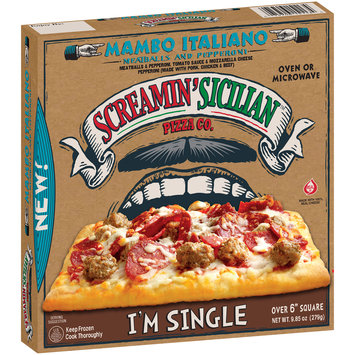 Screamin' Sicilian™ Pizza Co. Mambo Italiano Meatballs and Pepperoni Pizza 9.85 oz. Box