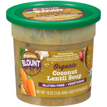 Blount Organic Gluten Free Vegetarian Organic Coconut Lentil Soup 16 oz. Tub