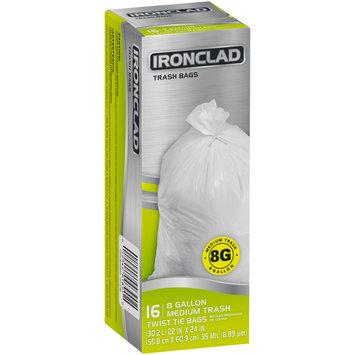 Ironclad® 8 Gallon Medium Twist Tie Trash Bags 16 ct Box