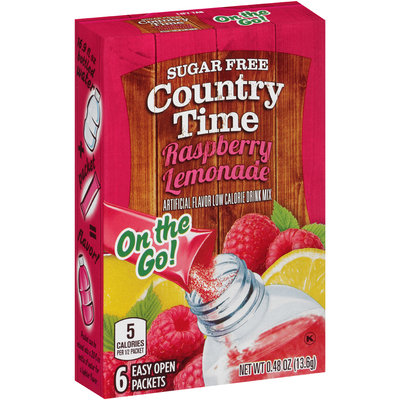 Country Time On the Go! Sugar Free Rasberry Lemonade Drink Mix