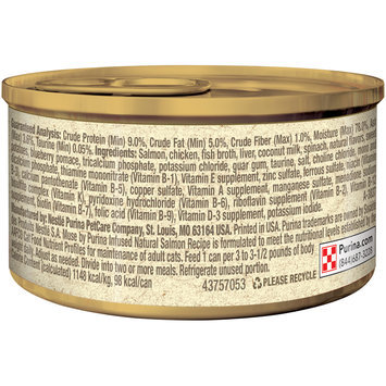 Muse by Purina Infused Adult Grain Free Pate Natural Salmon Recipe Cat Food 3 oz. Can