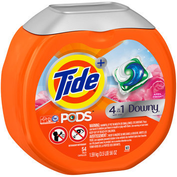 Tide® + 4-in-1 Downy® April Fresh™ Laundry Detergent PODS™ 54 ct Plastic Container