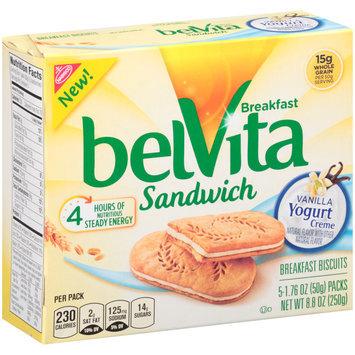 belVita Sandwich Vanilla Yogurt Creme Breakfast Biscuits 5-2 ct Packs