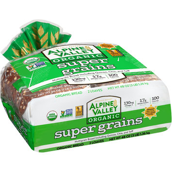 Alpine Valley™ Organic Super Grains Bread 2-24 oz. Loaves
