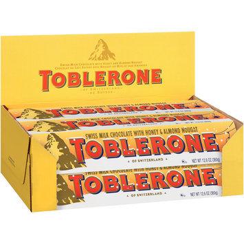 Toblerone Swiss Milk Chocolate with Honey & Almond Nougat 10-12.6 oz. Boxes