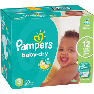 Pampers Baby-Dry Size 3 Diapers 180 ct Box