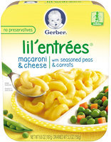 Gerber® Lil' Entrees® Macaroni & Cheese with Seasoned Peas & Carrots 6.6 oz. Tray (Pack of 8)