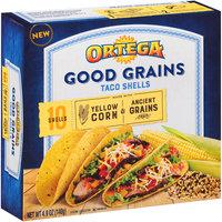 Ortega® Good Grains Yellow Corn & Ancient Grains Taco Shells 4.9 oz. Box