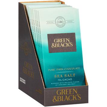 Green & Black's Sea Salt 70% Cacao Pure Dark Chocolate 12-3.17 oz. Bars