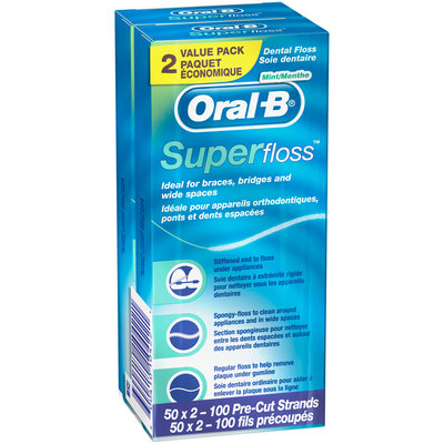 Oral-B® Super Floss™ Mint Dental Floss 2-50 ct Packs