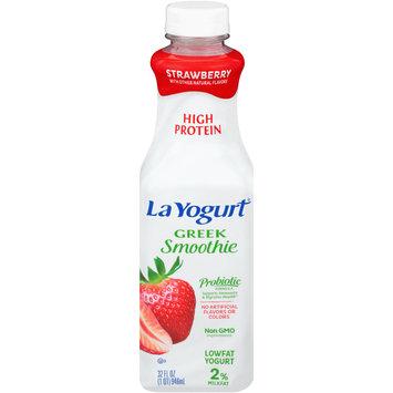 La Yogurt® Probiotic Strawberry Greek Smoothie Lowfat Yogurt 32 fl. oz. Bottle