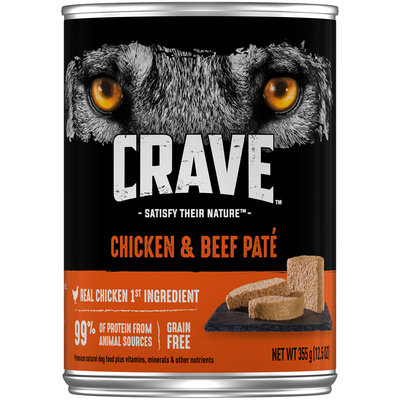 Crave™ Chicken & Beef Pate Dog Food 12.5 oz. Can