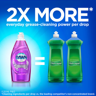 Dawn® Ultra Escapes™ Mediterranean Lavender Scent™ Dishwashing Liquid 532 mL Bottle