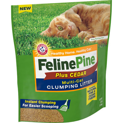Feline Pine™ Plus Cedar Multi-Cat Clumping Cat Litter 12 lb. Bag