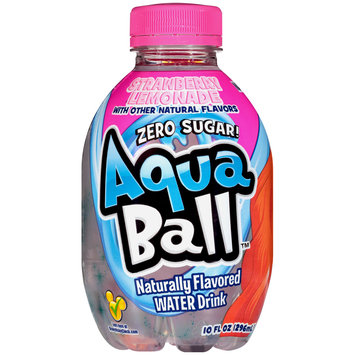 AquaBall™ Strawberry Lemonade Naturally Flavored Water Drink 10 fl. oz. Bottle