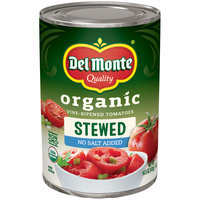 Del Monte® Organic Vine-Ripened Stewed  Tomatoes No Salt Added 14.5 oz. Can