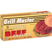 Grill Master 6 Quarter Pound Beef Patties 24 oz Box