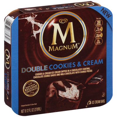 Magnum® Double Cookies & Cream Ice Cream Bars 3 ct Box
