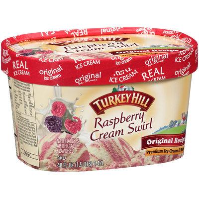 Turkey Hill Raspberry Cream Swirl Premium Ice Cream & Sherbet 48 fl. oz.
