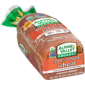 Alpine Valley™ Organic 100% Whole Wheat Bread 18 oz. Bag