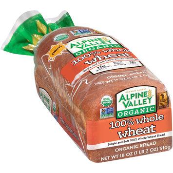 Alpine Valley™ Organic 100% Whole Wheat Bread 18 oz. Bag