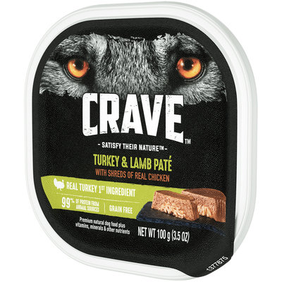 Crave™ Turkey & Lamb Pate Premium Dog Food 3.5 oz. Tray
