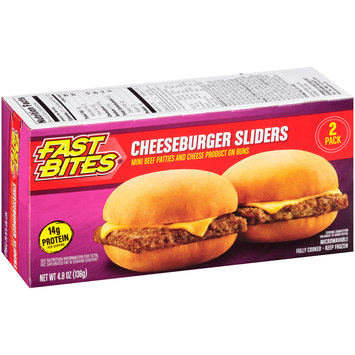 Fast Bites® Cheeseburger Sliders 2 ct Box
