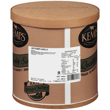 Lady Kemps® Vanilla Ice Cream 3 gal. Tub