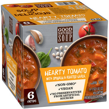 Good Natured Soup Hearty Tomato with Spinach & Roasted Garlic Soup 6-17 oz. Cartons