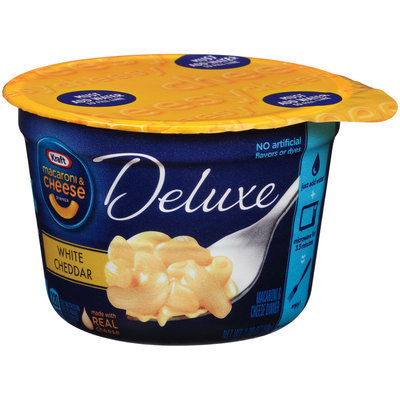 Kraft Deluxe White Cheddar Macaroni & Cheese Dinner 2.39 oz. Microcup