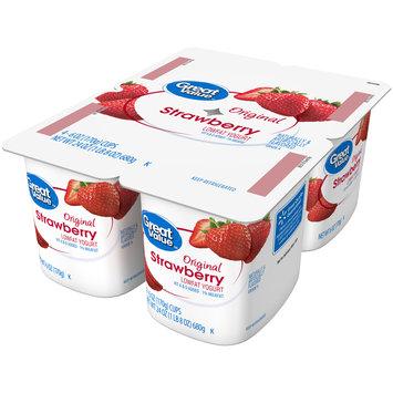 Great Value™ Original Strawberry Lowfat Yogurt 4-6 oz. Cups