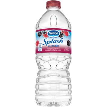 NESTLE SPLASH Water Beverages with Natural Fruit Flavors, Wild Berry 20-ounce plastic bottle