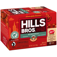 Hills Bros.® Rainforest Blend Medium Roast Single-Serve Pods 12ct Box