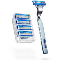 5 Mach3 Turbo Razor Blade Cartridges + Handle Included