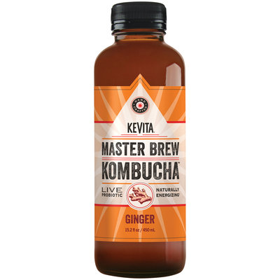 Kevita® Kombucha™ Master Brew Ginger Live Probiotic Drink 15.2 fl. oz. Bottle
