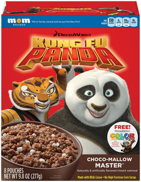 Mom Brands® DreamWorks Kung Fu Panda Choco-Mallow Master™ Instant Oatmeal 9.8 oz. Box