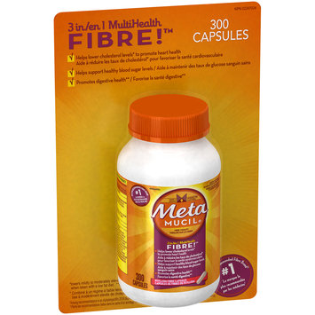 Metamucil Multi-Health Fiber Capsules by Meta, 300 capsule bottle