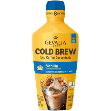 Gevalia Cold Brew Vanilla Iced Coffee Concentrate 32 fl. oz. Bottle