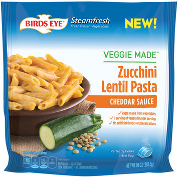 Birds Eye® Steamfresh® Veggie Made™ Cheddar Sauce Zucchini Lentil Pasta 10 oz. Bag