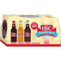 IBC Made with Sugar Variety Pack, 12 Fl Oz Glass Bottles, 24 Pack
