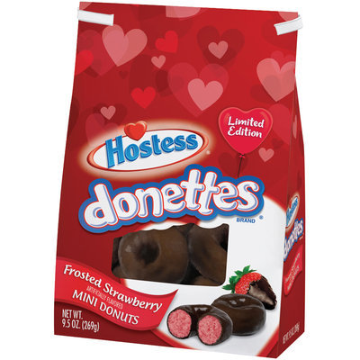 Hostess® Donettes® Frosted Strawberry Mini Donuts 9.5 oz. Stand Up Bag