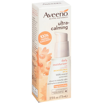 Aveeno® Active Naturals® Ultra-Calming Daily Moisturizer with Sunscreen 2.5 fl. oz. Box