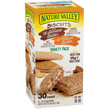 Nature Valley™ Biscuits with Almond Butter & Biscuits with Peanut Butter Variety Pack 30 ct Box