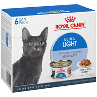 Royal Canin® Ultra Light Thin Slices in Gravy Wet Cat Food 6-3 oz. Cans