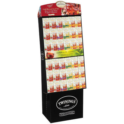 Twinings of London® Mixed Cold Brewed Iced Tea 72 ct Tea Bag Display - 24 English Classic/ 12 Mixed Berries/ 12 Green Tea with Mint/ 24 Peach